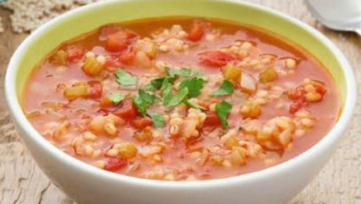 Recette : Soupe aux tomates et à l'orge.
