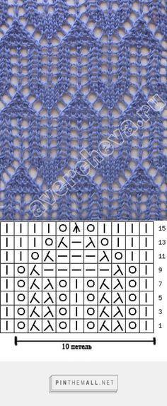 Ажурные узоры спицами.   Ларец - created via http://pinthemall.net
