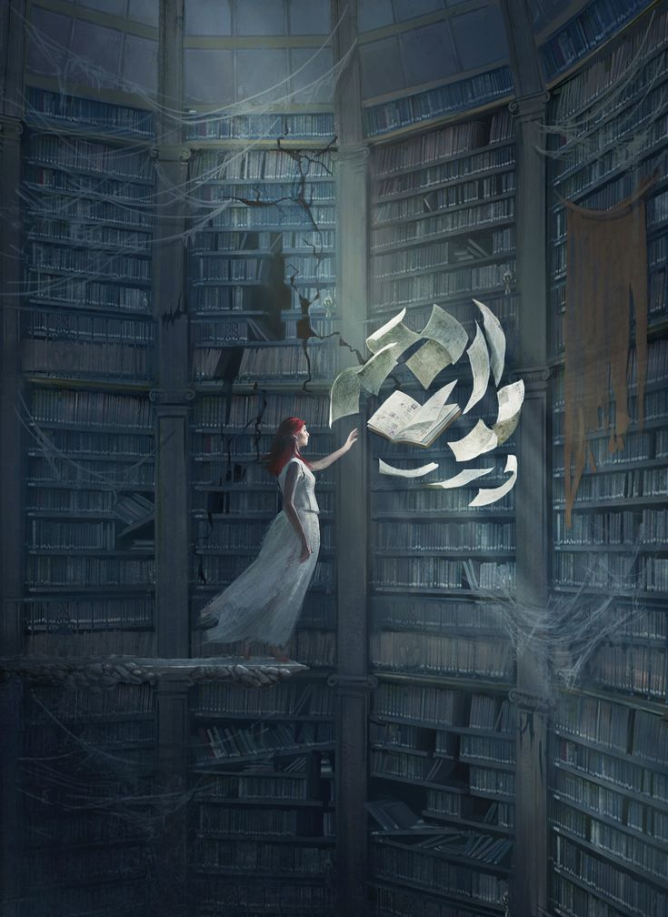 Comission work by Bagriel Gray (x-post from r/imaginarylibraries)_Imaginary Scholars