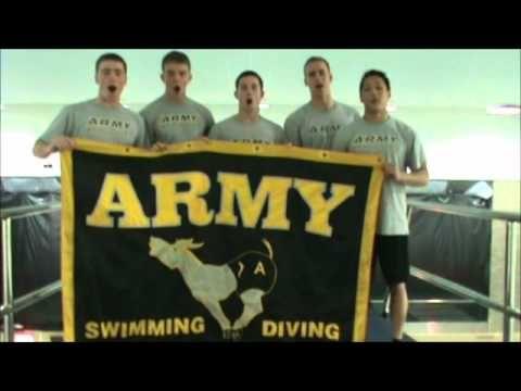 Army/Navy spirit video winter 2011 Army chucks a squid off a platform