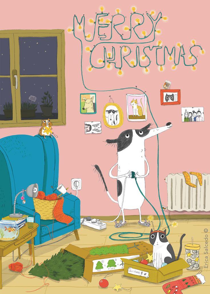 Merry Christmas - Erica Salcedo Illustration potfolio