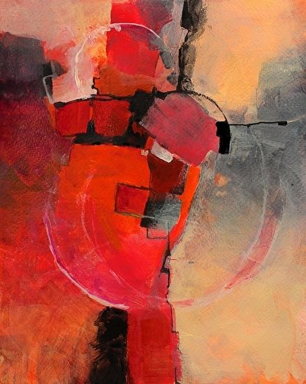 """Color Study 3 by Carol Nelson Acrylic ~ 10 x 8-Geometric Abstract Art Painting """"Color Study #3 """" by Colorado Mixed Media Abstract Artist Carol Nelson-http://carolnelsonfineart.com/workszoom/1577981"""