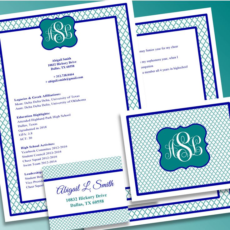 Digital Printable Sorority Recruitment Packet with Resume Added by 4TheLoveOfFonts1 on Etsy https://www.etsy.com/listing/245698161/digital-printable-sorority-recruitment