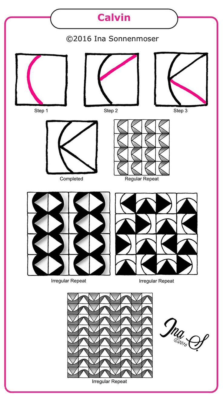 Risultati immagini per jasmin tangle pattern | zentangle patterns