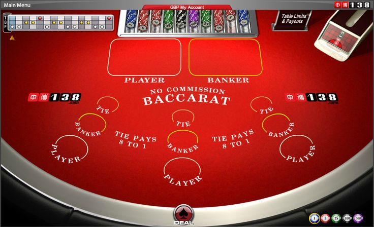 No Commission Baccarat - Predict if the Player or the Banker hand will get a point value closest to 9. #online #casino #cards #games #baccarat #138.com