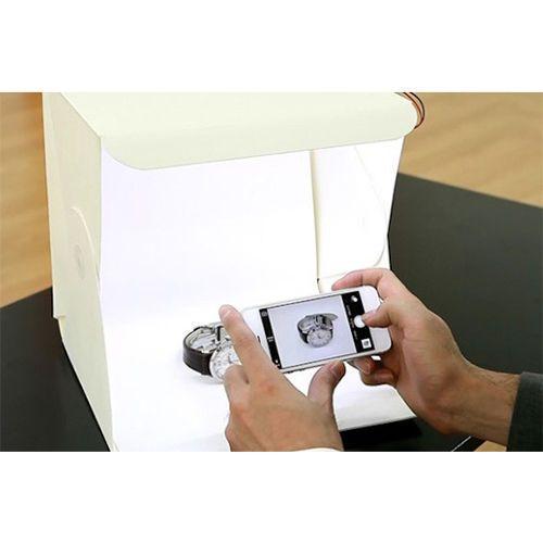 Foldio-Plegable-Studio-Portatil-Caja-De-Luz-Para-Smartphone-fotografia-unico-Led