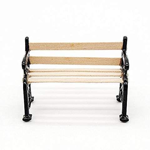 Odoria 1:12 Miniature Park Bench Garden Chair Dollhouse Furniture Accessories