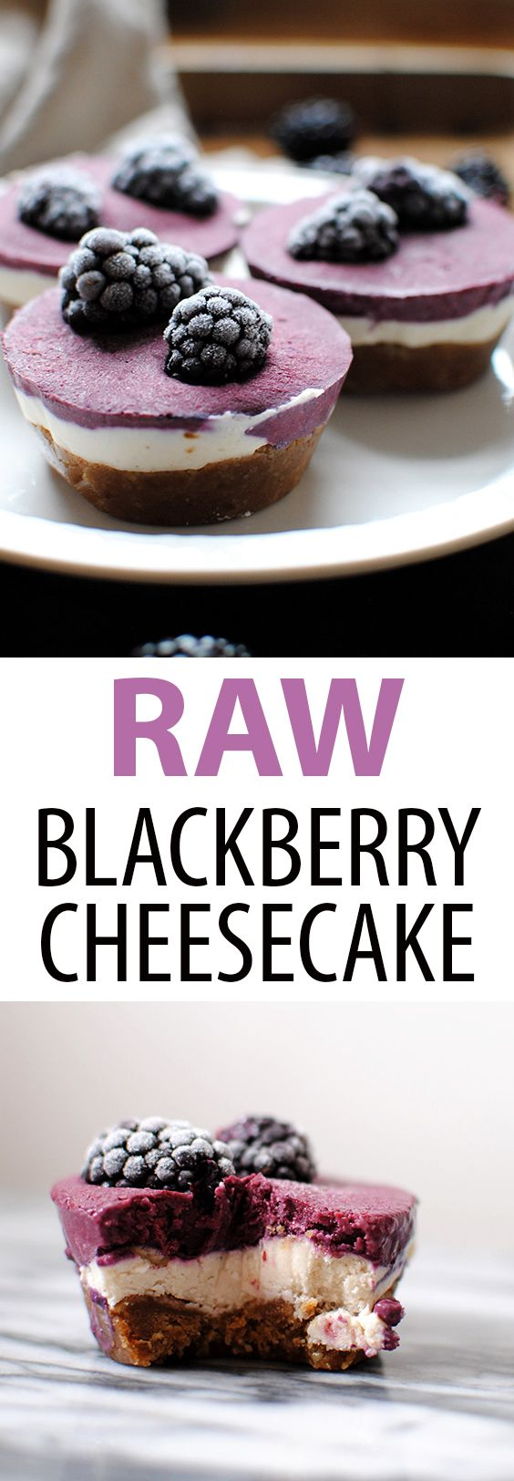 Click To Read About Fast & Healthy Diets That Works To Lose 21 Pounds in 21 Days, Raw Blackberry Cheesecakes are raw, vegan, gluten free, and delicious. Just 8 ingredients: coconut milk, shredded coconut, maple syrup, dates, walnuts, cashews, coconut oil, and blackberries // raw cheesecake // raw dessert // blackberry dessert // healthy dessert // gluten free dessert , #weightloss, #fatloss, #healthyrecipe, #dietplan