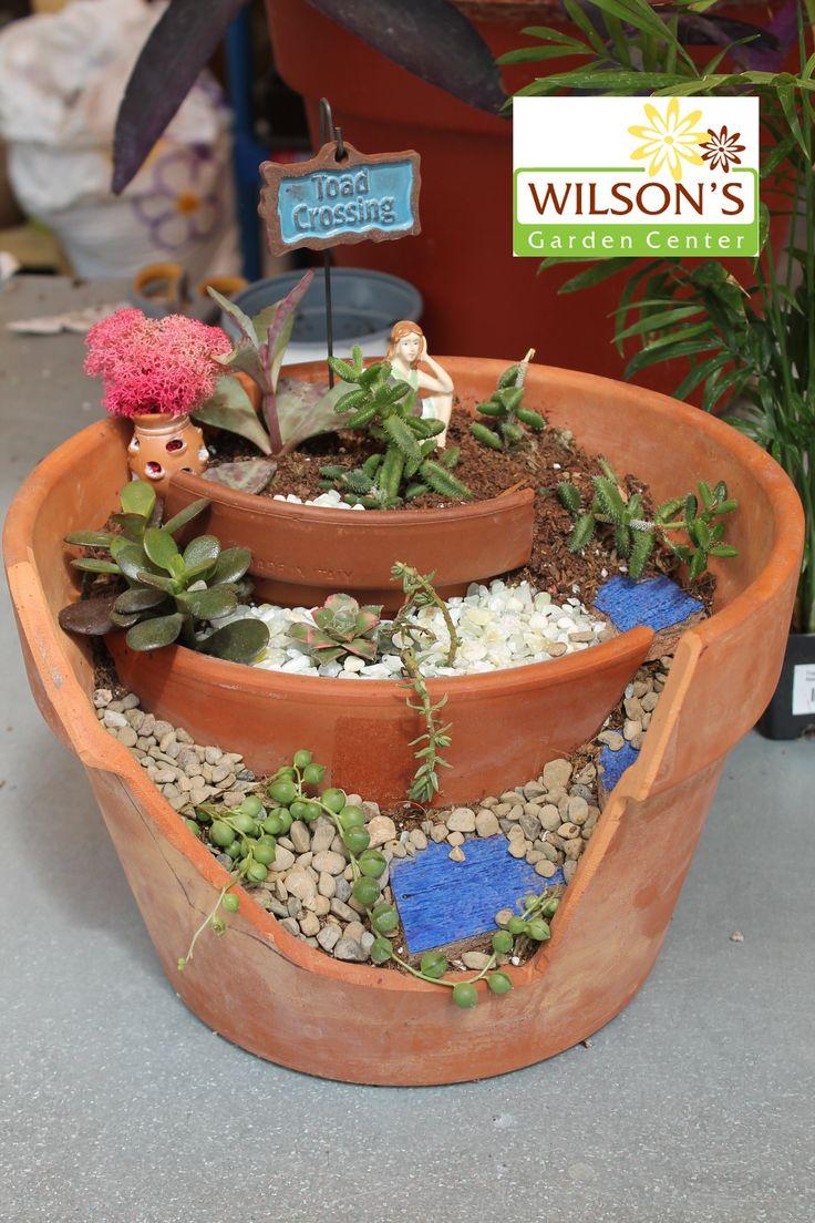 Fairy garden fairy garden ideas wilson made pinterest gardens container gardening and - Fairy garden containers ...