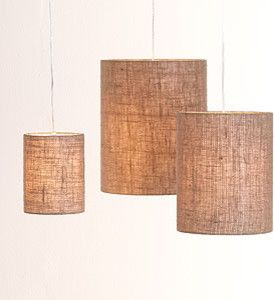 Irving Burlap Shades (just add white lamp) - eclectic - lamp shades - World Market