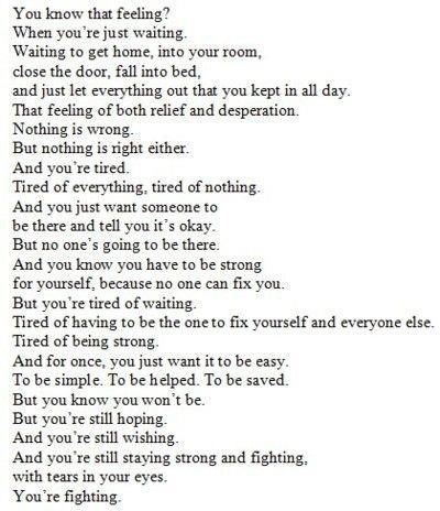 This describes me perfectly right now, it's almost scary how accurate it is.