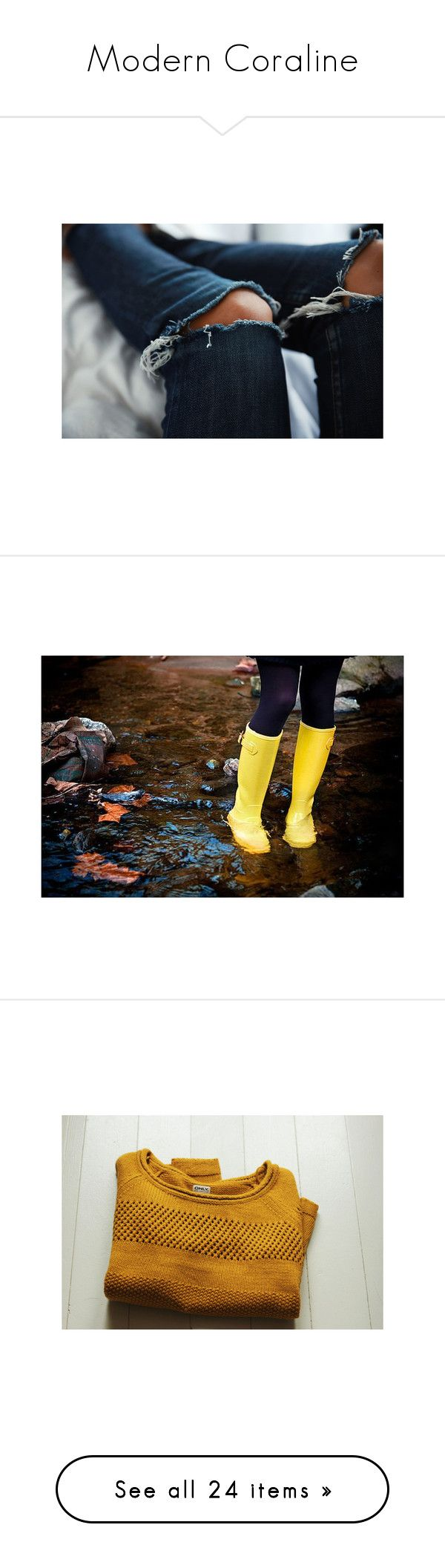 """""""Modern Coraline"""" by storycosmicjasmine ❤ liked on Polyvore featuring shoes, boots, rain boots, wellington boots, wellies boots, yellow rain boots, yellow wellington boots, pictures, backgrounds and photos"""