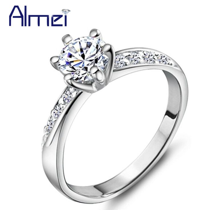 Find More Rings Information about Almei Engagement Simulated Diamond Rings Womens Jewellery Anillos Compromiso Fashion Jewelry Anillos De Plata Bijoux Bagues J048,High Quality jewelry door,China jewelry milling Suppliers, Cheap jewelry findings ring bases from Almei Jewelry Store on Aliexpress.com
