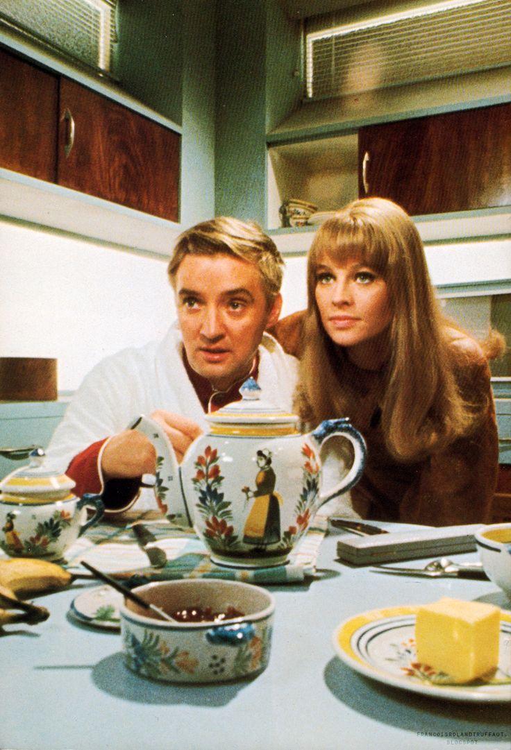 "Julie Christie, Oskar Werner in ""Fahrenheit 451"" (1966). Country: UK. Director: François Truffaut."