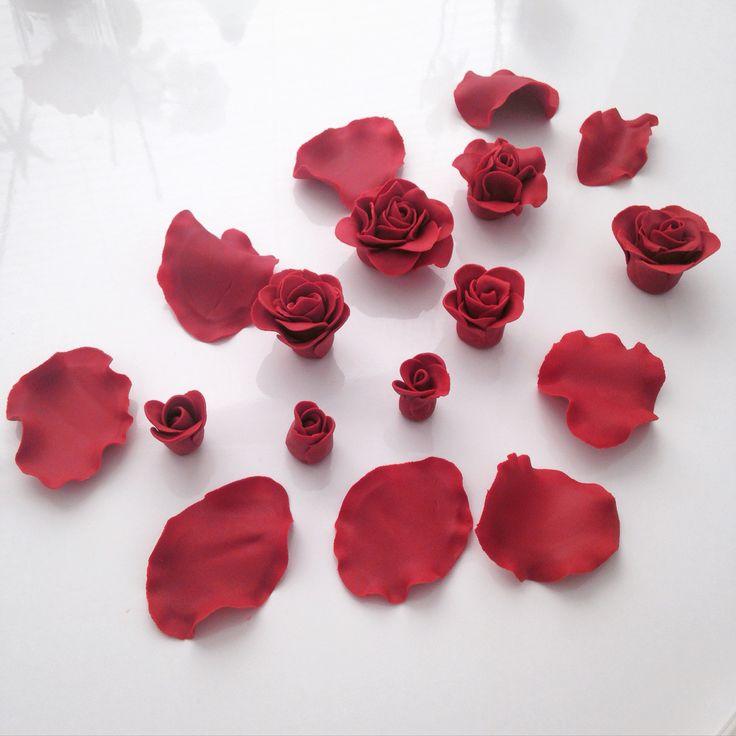 Fondant roses Fondantcake