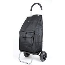 Trolley Utility Carts Dolly, Black Shopping Grocery Foldable Cart