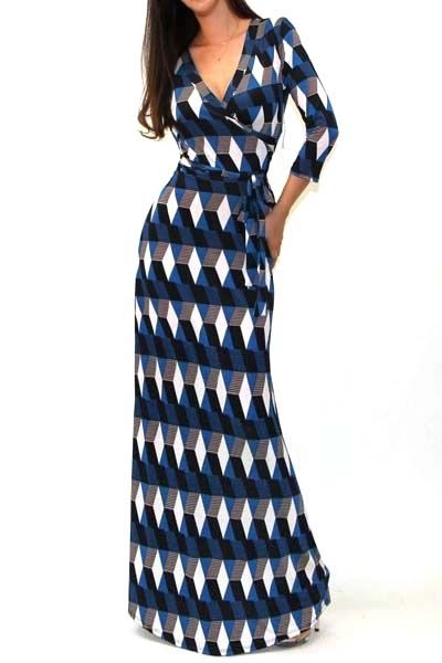 Abstract Print 3/4 Sleeves Tie Waist Maxi Dress AUD$36.79 + free shipping. Enjoy 25% OFF this Easter... Use code: Fashion25UCB