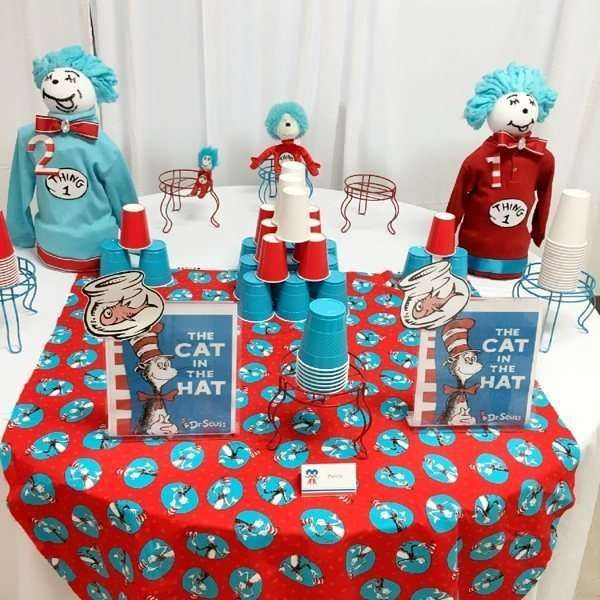 Dr.Seuss Thing 1 Babyshower Baby Shower Party Ideas