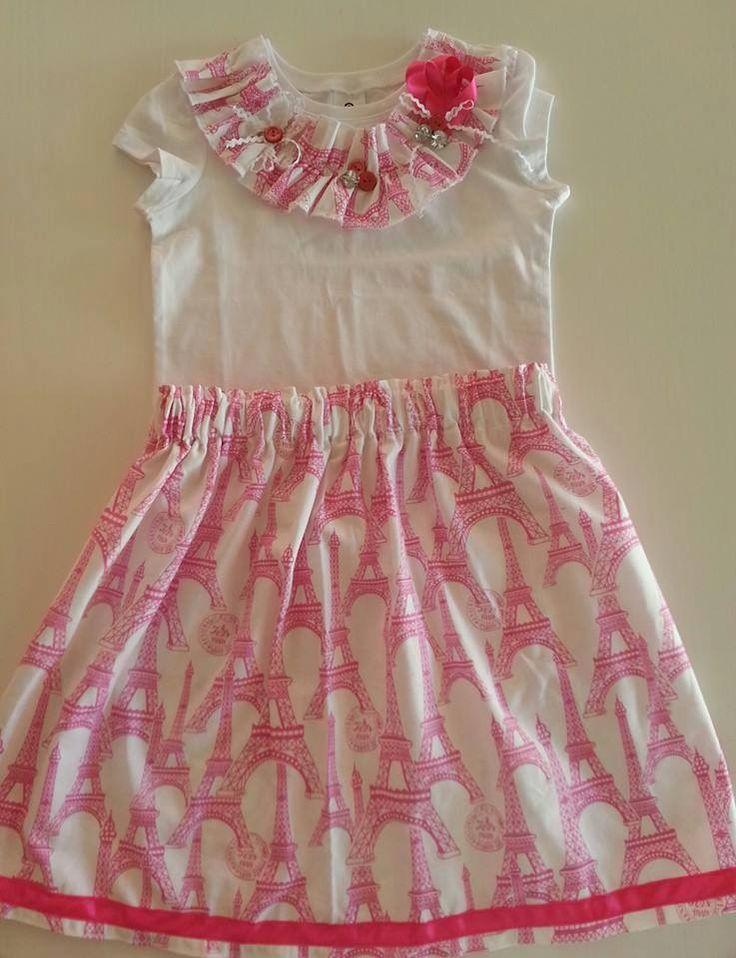 Handmade by La la bree Cute skirt and t-shirt set