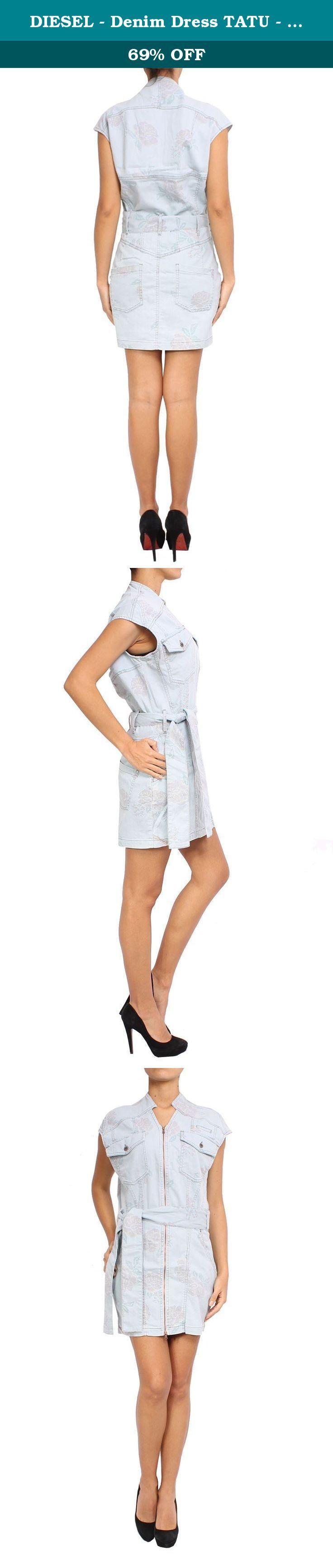 DIESEL - Denim Dress TATU - blue, S. Collar Type: Half-Zip. Sleeve type: Sleeveless. Composition: 76% Cotton 22% Lyocell 2% Elastane.
