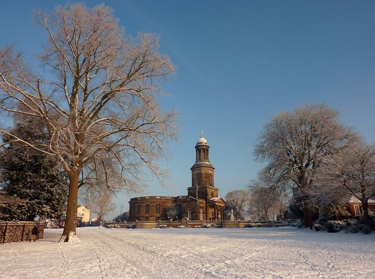 St Chad's, Shrewsbury in the snow