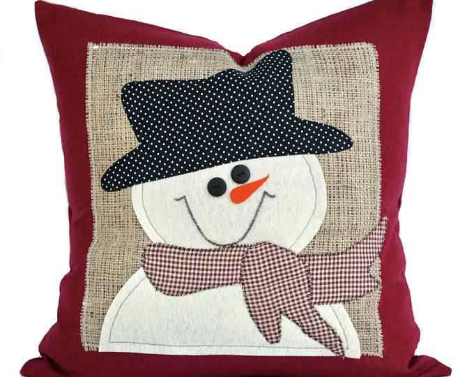 Snowman Christmas Pillow Cover Holiday Pillow Decorative Pillow Cushion Christmas Decoration With Images Christmas Pillow Covers Christmas Pillow Holiday Pillows
