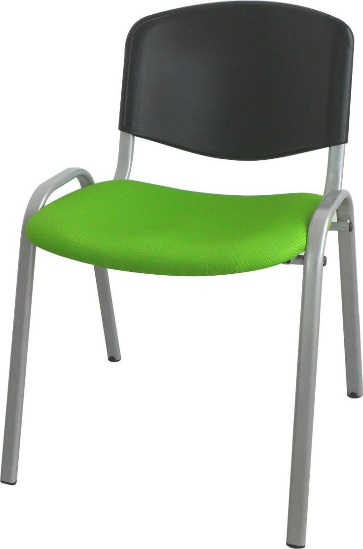 Silla tapizada asiento y espaldar en polipropileno.