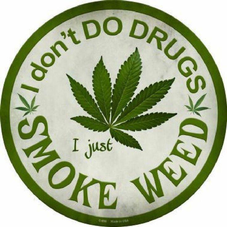 I just Smoke Weed Circular 12 inch  Sign