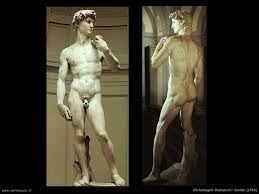 J1 - 2 - LE David de Michelangelo - Galleria dell'accademia - (FC) mar-dim : 8h15-18h50. RRR p.168 - 11/223 TA. Parfois longues heures d'attente !!!! Pour l'original du David ! Athlète de 5.5t et 5.17m de haut! Mains parfaites, mais disproportionnées ! Si possible, tourner autour!