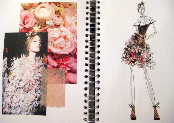 Fashion Sketchbook - pretty, floral fashion theme - fashion design drawing; sketch book work // Hayley Cornish