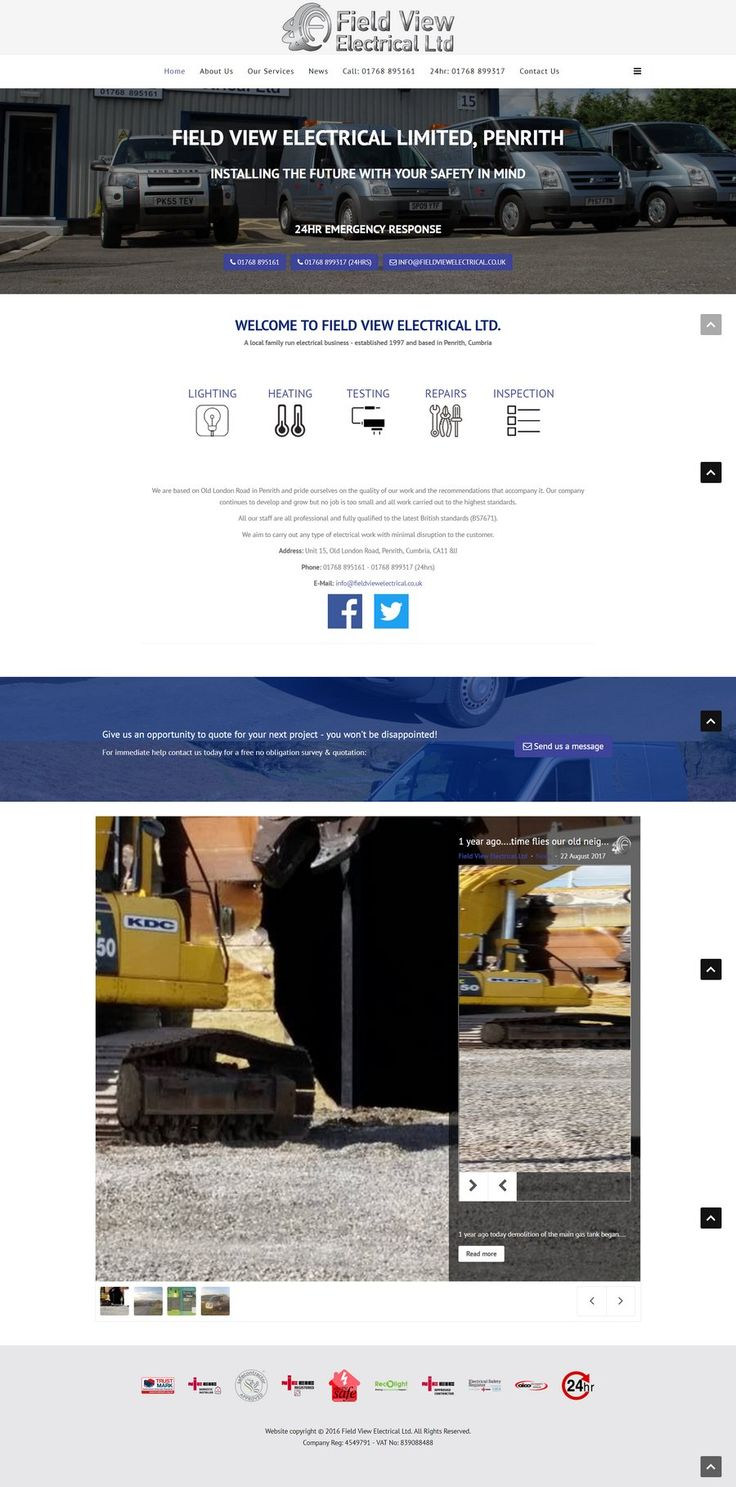 Replacing an old website, this design is mobile friendly and includes a social-media linked blog, fully integrated within the website.