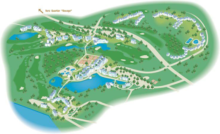 Le plan du village club de port bourgenay des vacances - Village pierre et vacances port bourgenay ...