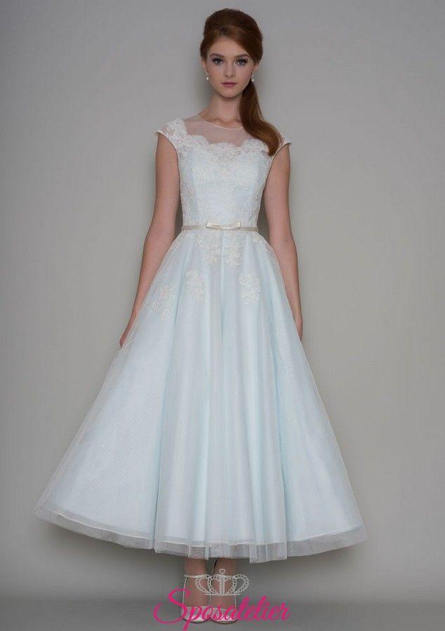 quality design f3eb2 2042b Abiti da sposa per matrimonio civile gonna longuette ...