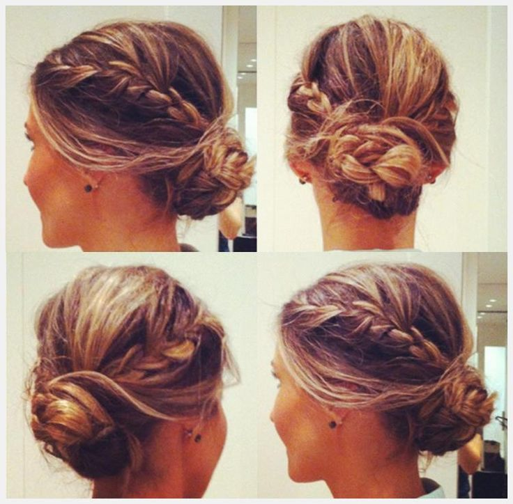 Messy Braided Bun - Hairstyles and Beauty Tips