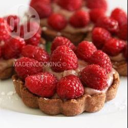 Tartelettes chocolat aux framboises @ allrecipes.fr