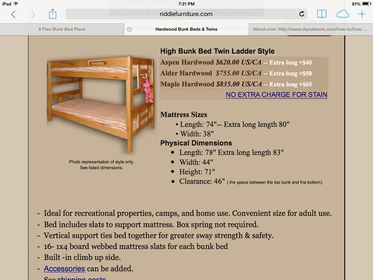 Built In Bunk Bed Dimensions Woodworking Projects Amp Plans