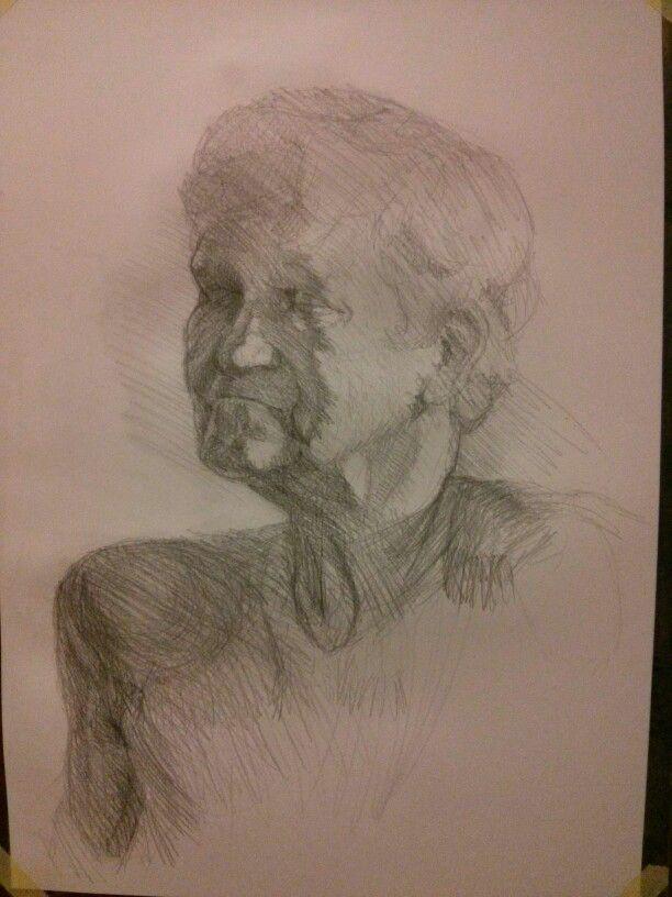 woman (haha) portrait, graphite