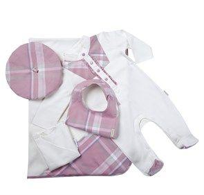 %100 Organik 5li Hastane Çıkışı Seti Pink