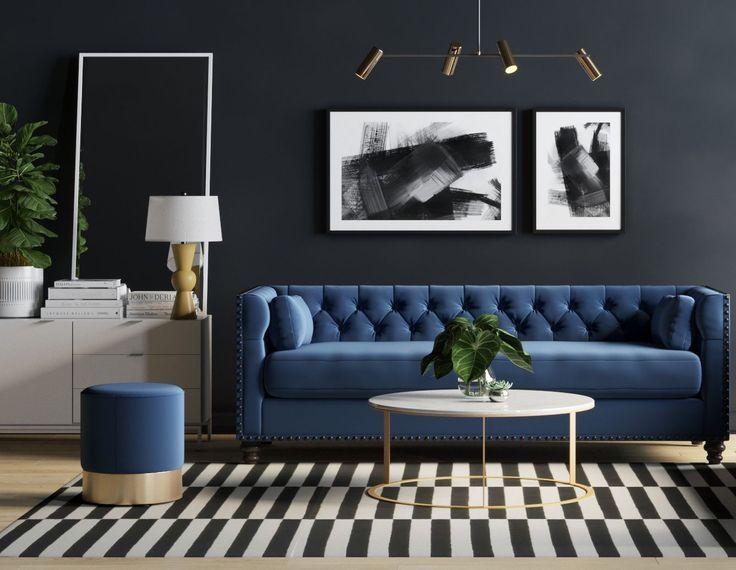 Fett Und Schön Dieses Luxuriöse Wohnzimmer Verfügt über Bold And Beautiful This Luxu Luxury Living Room Marble Tables Living Room Blue Theme Living Room