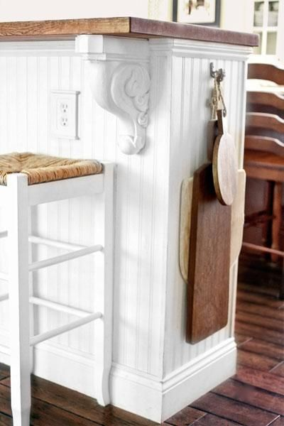 Gotta love this DIY kitchen island customized from prefab IKEA bookcases, laminated veneer lumber and a butcher-block countertop. | thisoldhouse.com