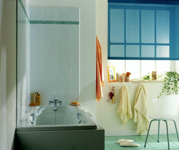 Roller Blind in Bathroom