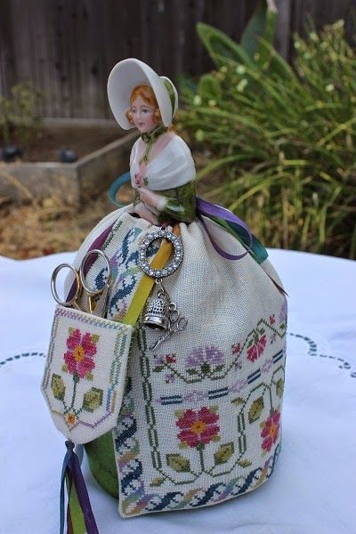 California Stitcher: Elizabeth Half Doll Pincushion - Completed!