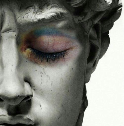 """""""Statues want to look beautiful too."""" She paused, still pinching the eyeshadow palette between her sparkling fingers."""