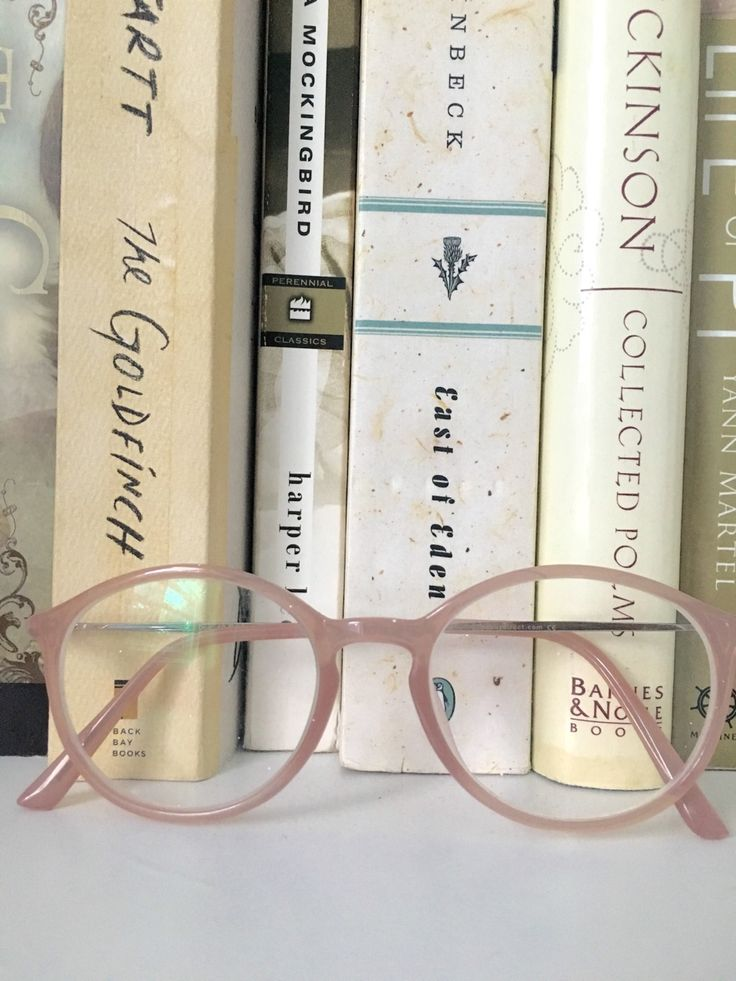 When you wear glasses, you have to wear twice as much eye make-up because it's harder to see your make-up with glasses on (not over the top though). Always make sure that the color and shape fits you as well.