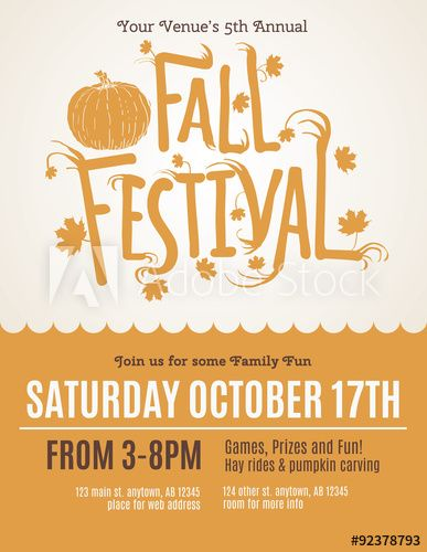 Best Fall Festival Images On Festival Posters