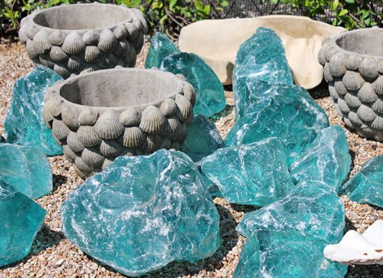 37 Best Garden Glass Rock Images On Pinterest Garden