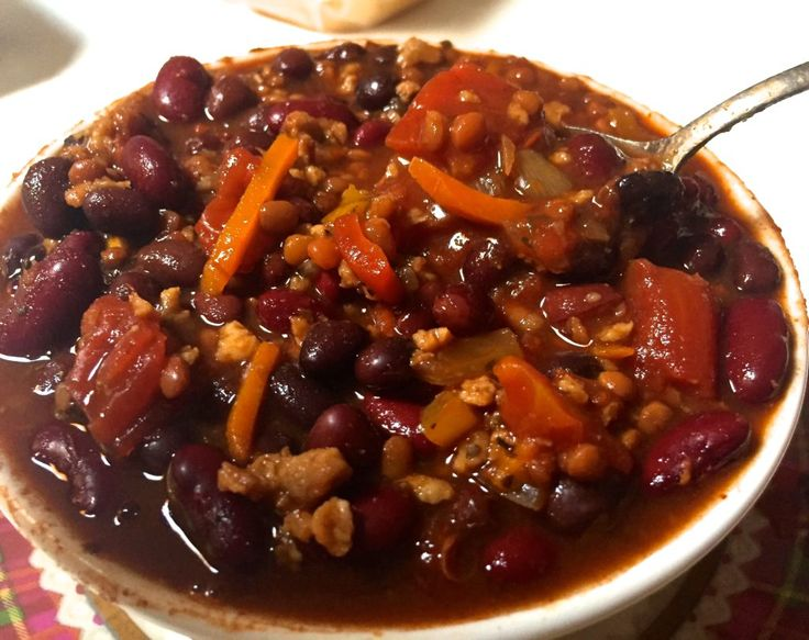 BEST VEGAN CHILI!!! Delicious three bean slow cooker chili that is very easy to make and full of nutrition.