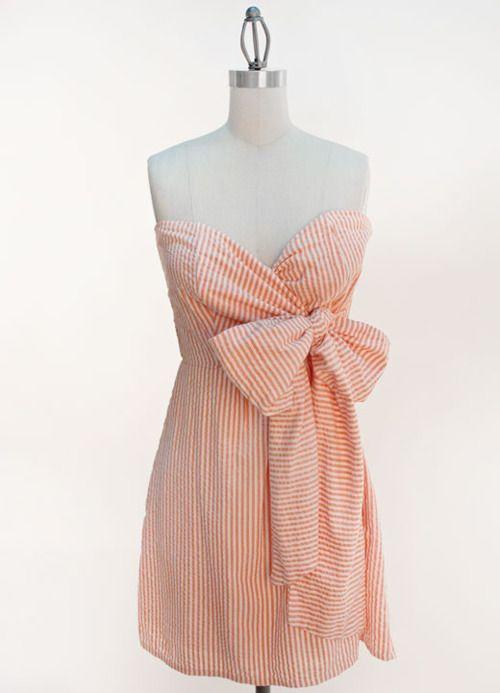 so cute!: Fashion, Summer Dress, Clemson Game, Dream Closet, Seersucker Dress, Dresses, Game Day Dress, Football Season
