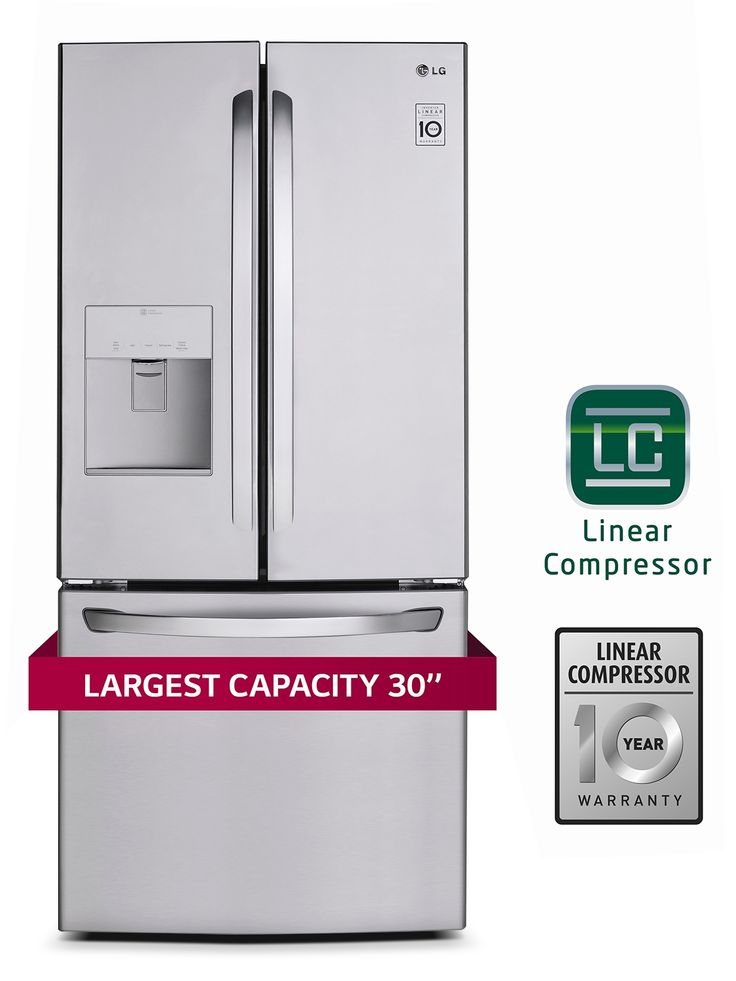 Refrigerators and Freezers - LG Appliances Stainless Steel French Door Refrigerator (21.8 Cu. Ft.) - LFD22786ST