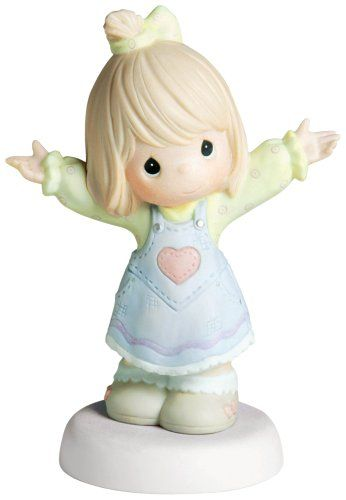 """Precious Moments """"I Love You This Much"""" Figurine, Girl"""